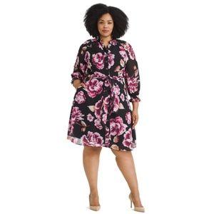 Eshakti Womens Dress 12 Multicolor Ruffle B26-12Z